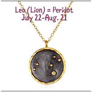 Jewelry - Leo Constellation W/ Peridot Gemstone, NWT